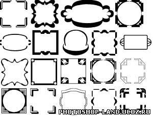 Фигуры shapes простые рамки 2 simple frame 2
