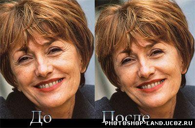 Урок photoshop - Удаление морщин (омоложение лица)
