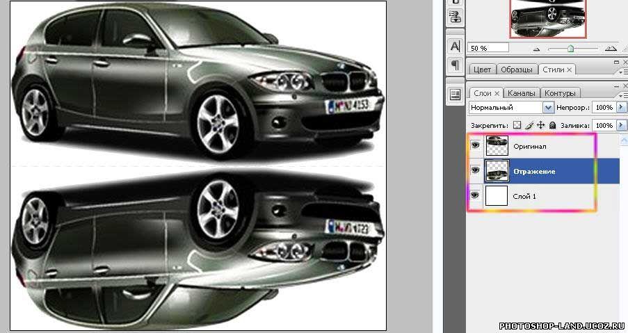 Как в фотошопе сделать фото в машине